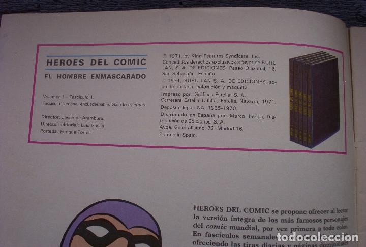 Cómics: EL HOMBRE ENMASCARADO - FASCÍCULO 1: EL HOMBRE ENMASCARADO EN LONDRES - AÑO 1971 - Foto 2 - 178310467