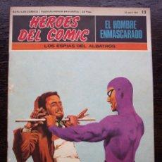 Cómics: EL HOMBRE ENMASCARADO - FASCÍCULO 13: LOS ESPÍAS DEL ALBATROS - AÑO 1971 - MUY BUEN ESTADO. Lote 178310796