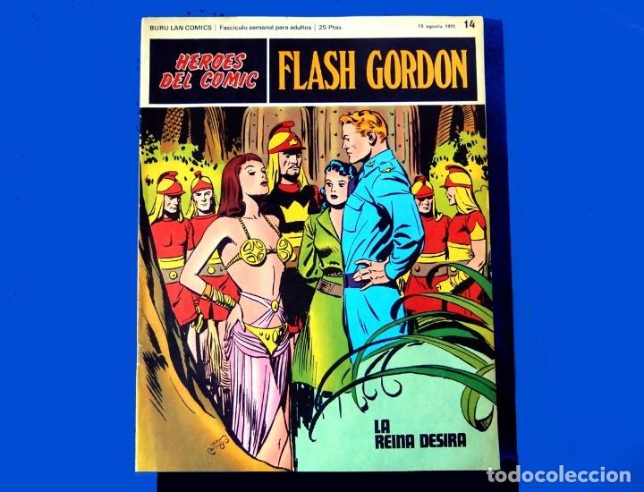 Cómics: FLASH GORDON, Nº 14 - 15 - 16 - 3 FASCICULOS DEL TOMO 2, 1971 - BURU-LAN COMICS,- COMO NUEVOS. - Foto 3 - 178887416