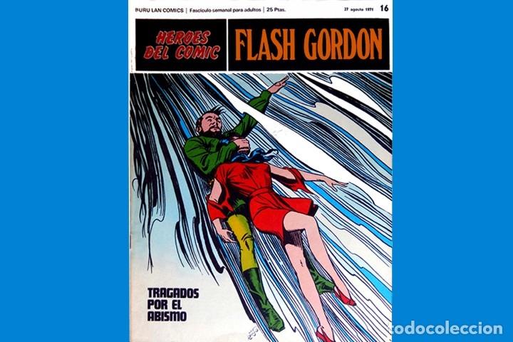 Cómics: FLASH GORDON, Nº 14 - 15 - 16 - 3 FASCICULOS DEL TOMO 2, 1971 - BURU-LAN COMICS,- COMO NUEVOS. - Foto 7 - 178887416