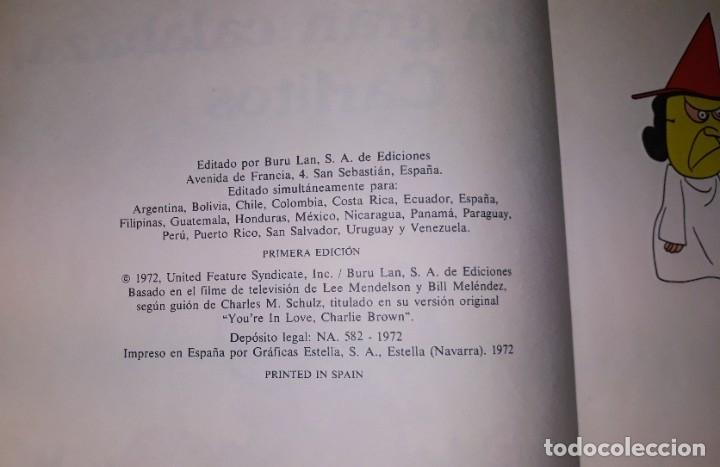 Cómics: ES LA GRAN CALABAZA CARLITOS EDICIONES BURULAN PRIMERA EDICION AÑO 1972 ORIGINAL - Foto 2 - 178970042