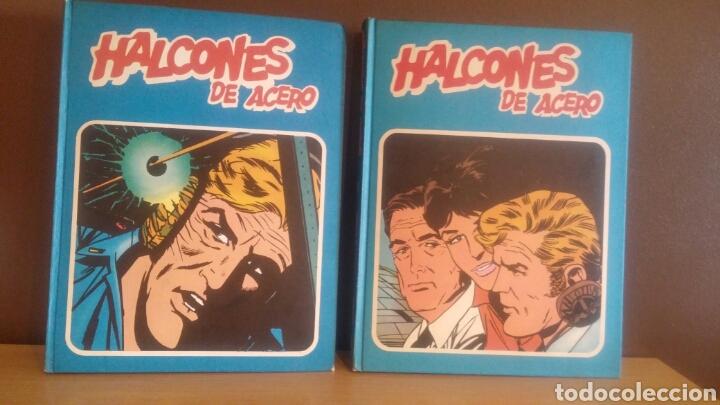 HALCONES DE ACERO COMPLETA 2 TOMOS BURU LAN 1974 (Tebeos y Comics - Buru-Lan - Halcones de Acero)