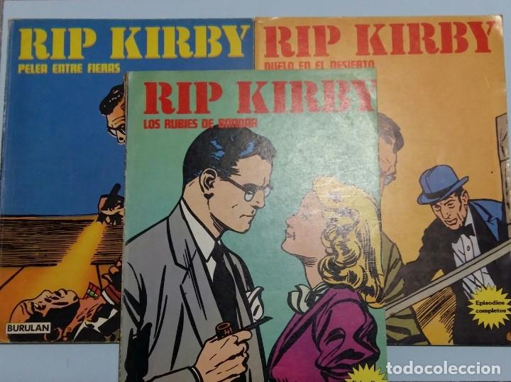 LOTE RIP KIRBY 6, 10 Y 11. BURULAN (Tebeos y Comics - Buru-Lan - Rip Kirby)