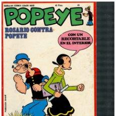 Cómics: POPEYE 45. CON RECORTABLE. MUY BUENO.. Lote 180961907