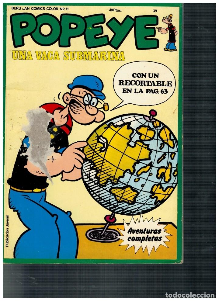 POPEYE 39.. CON RECORTABLE. (Tebeos y Comics - Buru-Lan - Popeye)