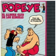 Cómics: POPEYE 37. CON RECORTABLE. MUY BUENO.. Lote 180965631