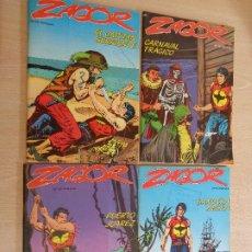 Cómics: LOTE DE 4 COMICS DE ZAGOR BURULAN NÚMEROS 14 15 16 17 EN MUY BUEN ESTADO. Lote 180970038