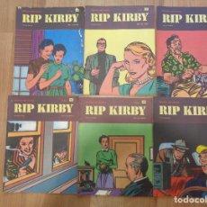 Cómics: LOTE DE 6 COMICS DE RIP KIRBY ED. BURU LAN 40 42 43 44 46 47 EN BUEN ESTADO. Lote 180972018