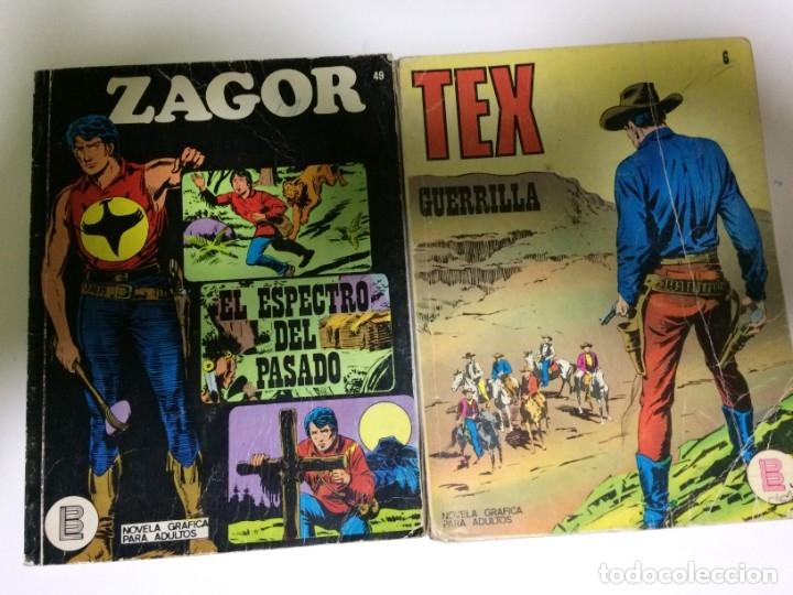 COMIC TEX Y ZAGOR BURU LAN (Tebeos y Comics - Buru-Lan - Tex)