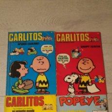 Cómics: LOTE DE 4 COMICS BURULAN 3 DE CARLITOS Y 1 DE POPEYE. Lote 181514693