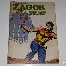 Cómics: ZAGOR Nº 73 - HEROES ETERNOS SERIE AVENTURA Nº 44 : ZAGOR RIVERPOINT - BURU LAN EDICIONES AÑO 1973. Lote 181569717