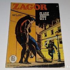 Cómics: ZAGOR Nº 37 - CLARK CITY - BURU LAN EDICIONES AÑO 1972 - ED ARALDO. Lote 181570156