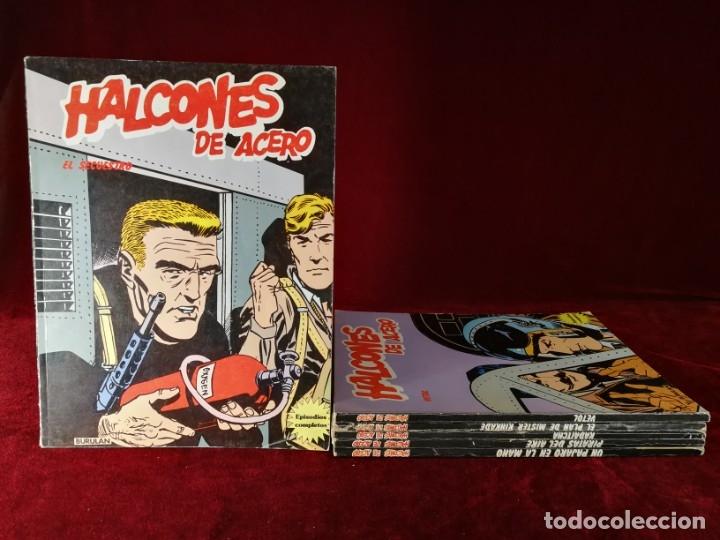 COLECCION COMPLETA 1 AL 6 HALCONES DE ACERO J. DIXON , BURU LAN , 1974 , BUEN ESTADO GENERAL (Tebeos y Comics - Buru-Lan - Halcones de Acero)