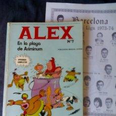 Cómics: ALEX PLAYA ARIMINUM Nº 7 (LEER RAREZA COLECCIONISTA) BURU LAN EDICIONES REGALO FUTBOL LIGA 1973 74. Lote 182372085
