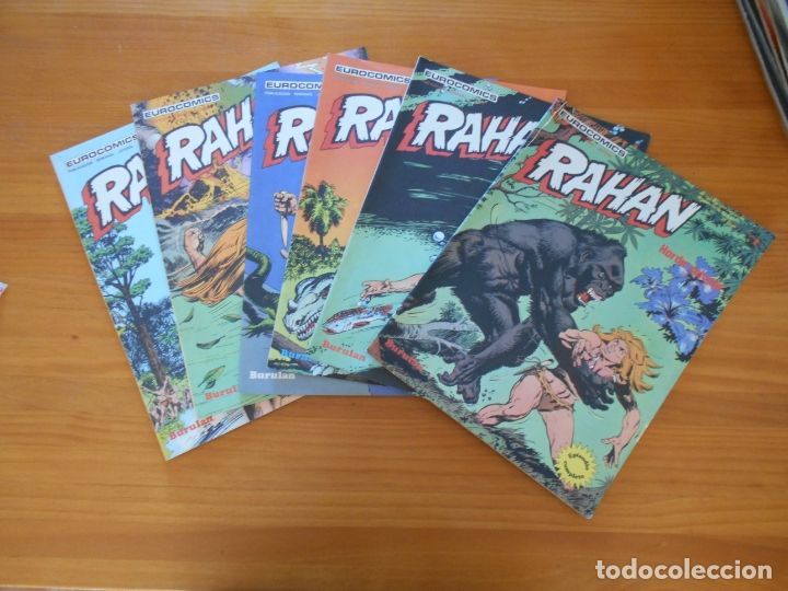 RAHAN Nº 1, 2, 3, 4, 5 Y 6 - EUROCOMICS - BURULAN - LEER DESCRIPCION (A1) (Tebeos y Comics - Buru-Lan - Rahan)