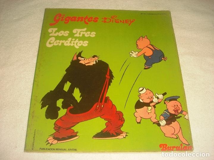 GIGANTES DISNEY N. 16. LOS TRES CERDITOS 1974 (Tebeos y Comics - Buru-Lan - Otros)