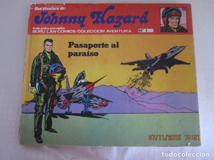 JOHNNY HAZARD Nº 1 BURU LAN COMICS PASAPORTE AL PARAISO (Tebeos y Comics - Buru-Lan - Otros)