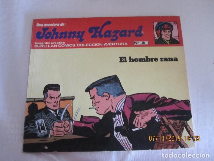 JOHNNY HAZARD Nº 3 BURU LAN COMICS EL HOMBRE RRANA (Tebeos y Comics - Buru-Lan - Otros)