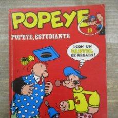 Fumetti: POPEYE - Nº 19 - ESTUDIANTE - BURU LAN - BURULAN . Lote 182677356