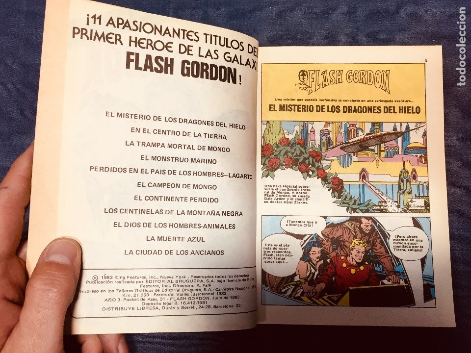 Cómics: FLASH GORDON HÉROE GALAXIA DAN BARRY POCKET DE ASES BOLSILLO a color Nº 31 - Foto 4 - 183168362