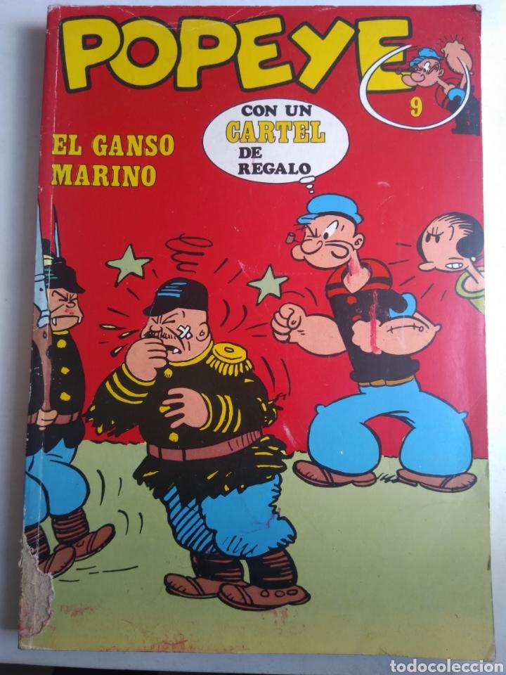 COMIC POPEYE N°9 BURU LAN CON CARTEL (Tebeos y Comics - Buru-Lan - Popeye)