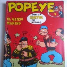 Cómics: COMIC POPEYE N°9 BURU LAN CON CARTEL. Lote 183554551