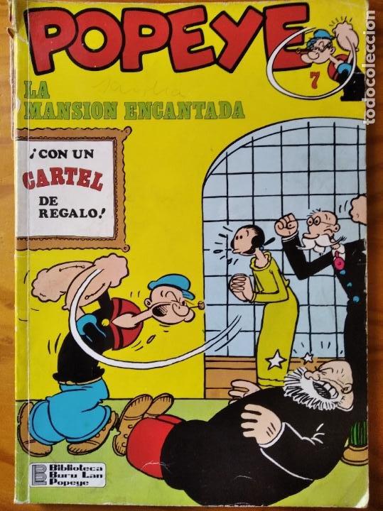 POPEYE, LA MANSION ENCANTADA - BIBLIOTECA BURU LAN DE POPEYE ALBUM RUSTICA Nº 7- (Tebeos y Comics - Buru-Lan - Popeye)