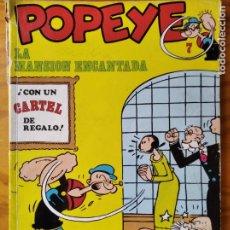 Cómics: POPEYE, LA MANSION ENCANTADA - BIBLIOTECA BURU LAN DE POPEYE ALBUM RUSTICA Nº 7-. Lote 183687791