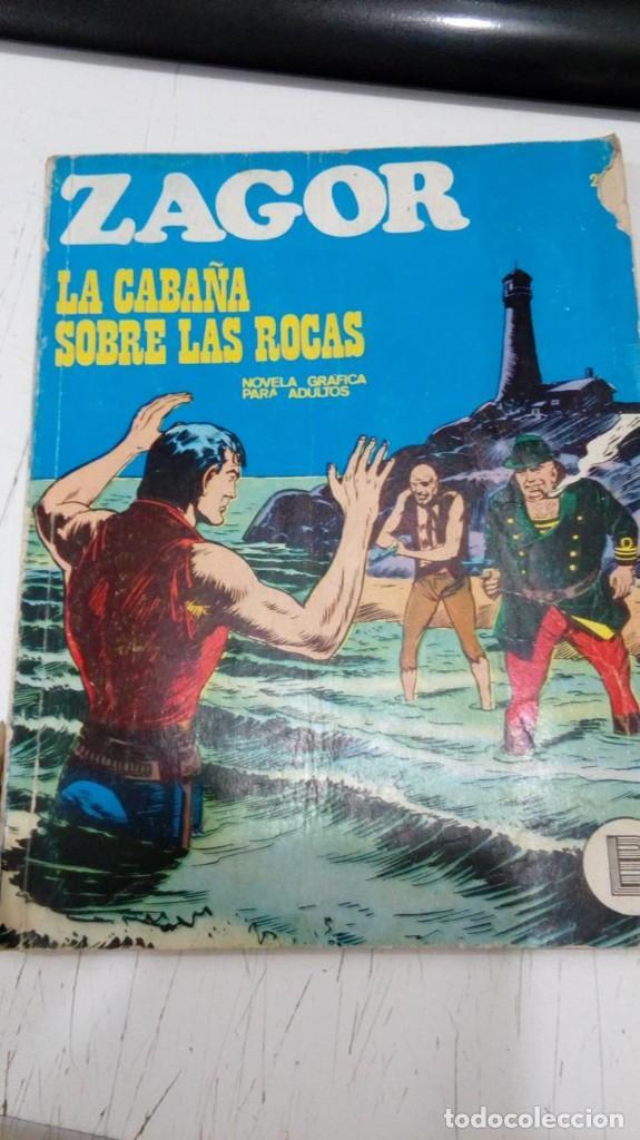 OFERTA - ZAGOR Nº 25 - LA CABAÑA SOBRE LAS ROCAS - BURU LAN 1972 (Tebeos y Comics - Buru-Lan - Zagor)