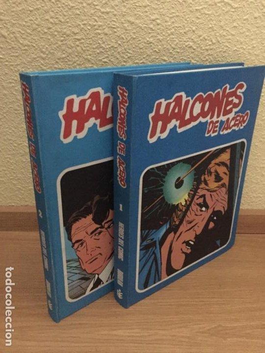 HALCONES DE ACERO COMPLETA 2 TOMOS - BURU LAN 1974 - ¡NUEVA! (Tebeos y Comics - Buru-Lan - Halcones de Acero)