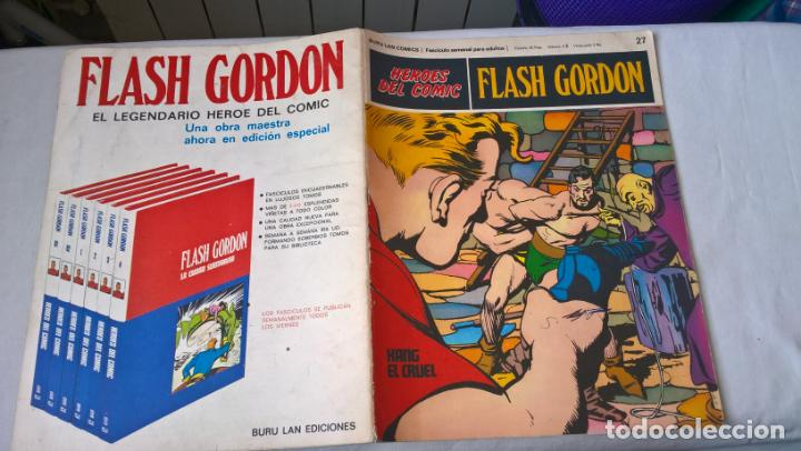 COMIC: FLASH GORDON Nº 27 KANG EL CRUEL (Tebeos y Comics - Buru-Lan - Flash Gordon)