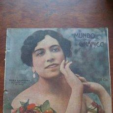 Cómics: DORA SAAVEDRA BELLA ARTISTA ESPAÑOLA HOJA AÑO 1919. Lote 184630217