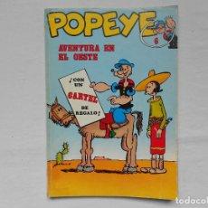 Cómics: POPEYE Nº 6, AVENTURA EN EL OESTE, EDICIONES BURU LAN, AÑO 1971. Lote 185711121