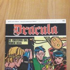 Cómics: DRÁCULA. BURU LAN COMICS. 43. EL MISTERIO DEL BUICK AZUL. Lote 186409803