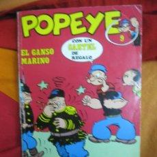 Cómics: POPEYE Nº 9. EL GANSO MARINO. BURU LAN, 1971. Lote 187370538