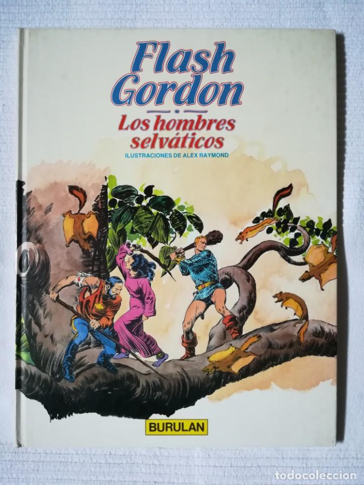 FLASH GORDON -LOS HOMBRES SELVÁTICOS- DE ALEX RAYMOND -BURULAN 1983, TAPA DURA (Tebeos y Comics - Buru-Lan - Flash Gordon)