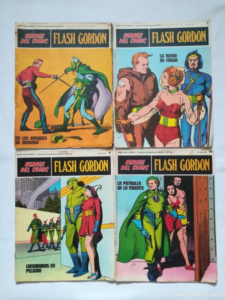 4 CÓMICS DE FLASH GORDON 1971-1972 Nº 1, 2, 9 Y 10 DE BURU LAN (Tebeos y Comics - Buru-Lan - Flash Gordon)