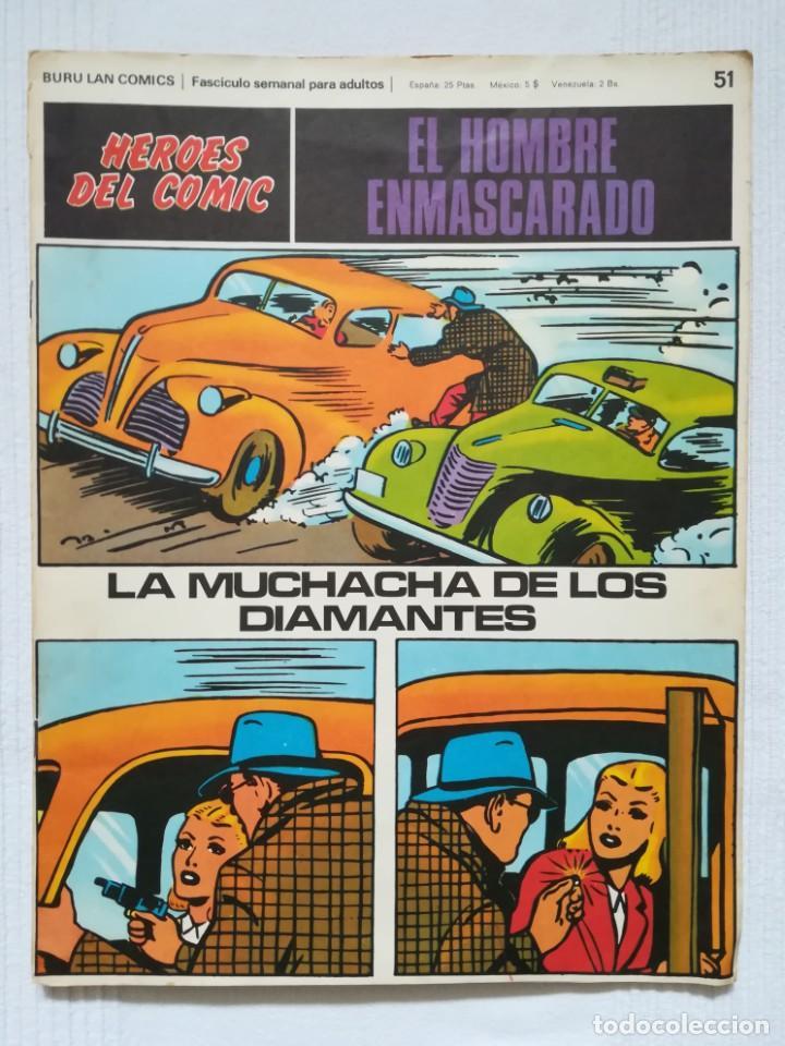 EL HOMBRE ENMASCARADO NÚM. 51 HÉROES DEL CÓMIC, BURU LAN 1972 (Tebeos y Comics - Buru-Lan - Hombre Enmascarado)
