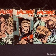 Cómics: LOTE 3 HALCONES DE ACERO EL SECUESTRO KADAITCHA EL PLAN DE MISTER KINKADE 1974 BURULAN EDICIONES. Lote 189891296