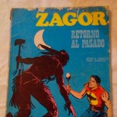 Cómics: ZAGOR RETORNO AL PASADO NÚMERO 9 BURU LAN LOMO ROZADO. Lote 190085405