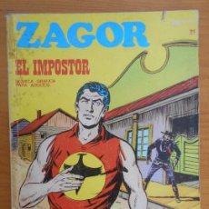 Cómics: ZAGOR Nº 21 - EL IMPOSTOR - BURU LAN - LEER DESCRIPCION (7B). Lote 191146017