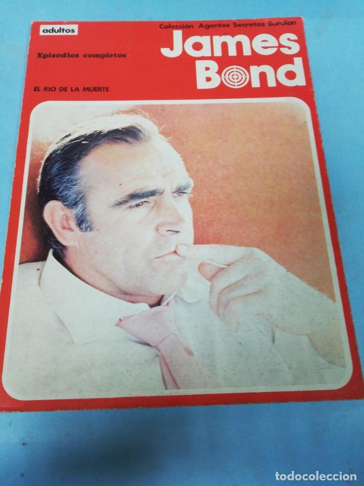 JAMES BOND. EL RÍO DE LA MUERTE. COLECCIÓN AGENTES SECRETOS BURULAN. (Tebeos y Comics - Buru-Lan - James Bond)