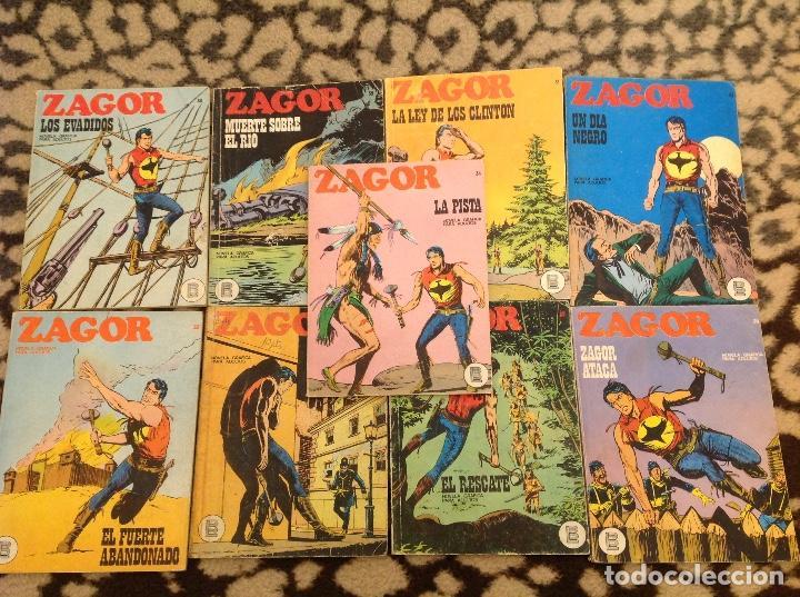 ZAGOR BURU LAN LOTE 31,32,33,34,36,37,38,39,43. (Tebeos y Comics - Buru-Lan - Zagor)