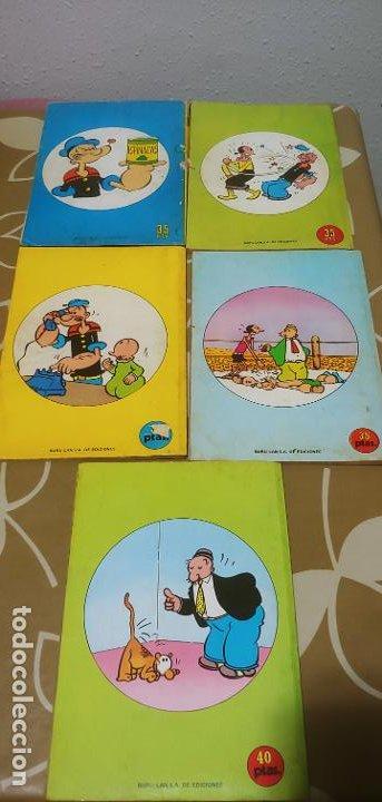 Cómics: Lote de Popeye nº 1-2-3-4-5 Buru Lan Completos pero sin carteles - Foto 2 - 192091720