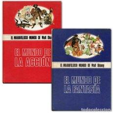 Cómics: EL MUNDO DE LA FANTASÍA / EL MUNDO DE LA ACCIÓN - EL MARAVILLOSO MUNDO DE WALT DISNEY. Lote 192842545