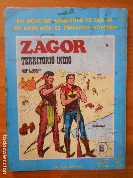 Cómics: ZAGOR Nº 25 - LA CABAÑA SOBRE LAS ROCAS - BURU LAN (6T) - Foto 3 - 193061205