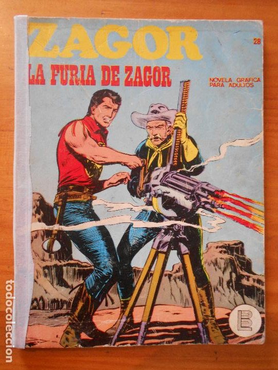 ZAGOR Nº 28 - LA FURIA DE ZAGOR - BURU LAN - LEER DESCRIPCION (6T) (Tebeos y Comics - Buru-Lan - Zagor)