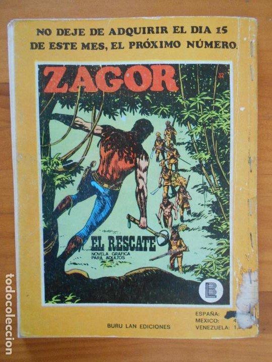 Cómics: ZAGOR Nº 31 - LA LEY DE LOS CLINTON - BURU LAN - LEER DESCRIPCION (6T) - Foto 4 - 193113107