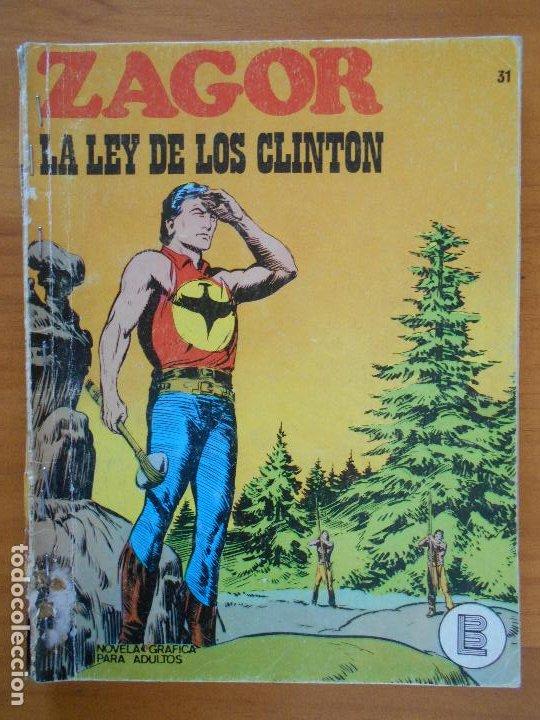 ZAGOR Nº 31 - LA LEY DE LOS CLINTON - BURU LAN - LEER DESCRIPCION (6T) (Tebeos y Comics - Buru-Lan - Zagor)
