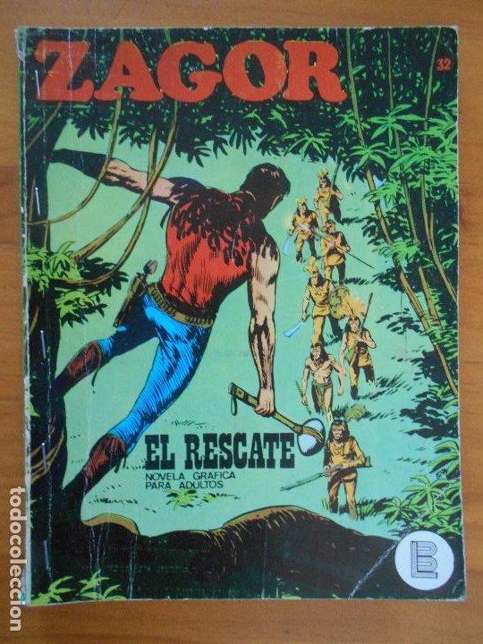 ZAGOR Nº 32 - EL RESCATE - BURU LAN - LEER DESCRIPCION (6T) (Tebeos y Comics - Buru-Lan - Zagor)